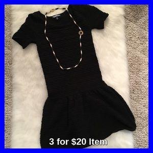 Freshman Dresses & Skirts - Black Knit Drop Waist Dress NWOT