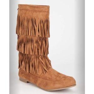 WILD DIVA Starcy Fringe Womens Boots