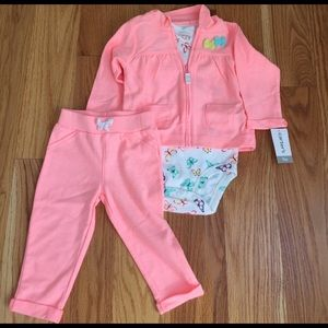 Carter's Other - ✂️ NWT.  Carter's peach jogging outfit. 9M