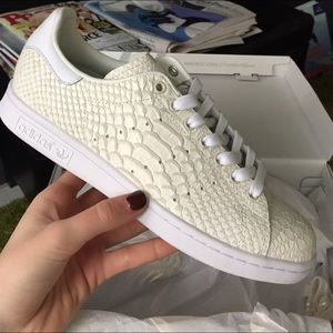 Adidas Shoes - Custom snakeskin off-white Stan Smith Adidas Shoes