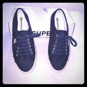 Superga Shoes - SUPERGA:  Navy Linen Sneakers 🇮🇹