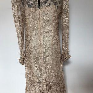 Vintage Dresses - Vintage Drop Waist Lace Dress