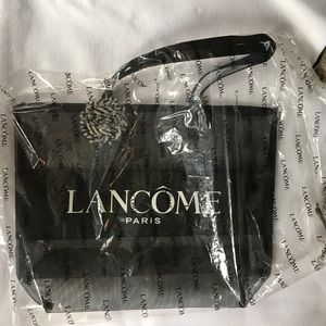 b29395feb52d4 Lancome Bags - Lancôme large mesh tote logo black beach bag new