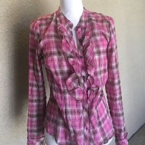 C&C California Tops - C&C California PLAID BLOUSE