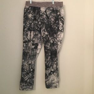 Cabi grey and white tie dye pants Sz Med