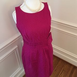 Taylor Dresses & Skirts - Hot Pink Dress with Bow Detail