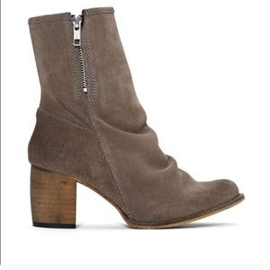 Jeffrey Campbell Shoes - Jefferey Campbell Grey Suede 'Ki' Ankle Boots