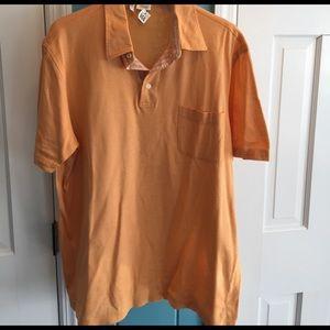 Brioni Other - Brioni Italy orange button cotton  polo shirt