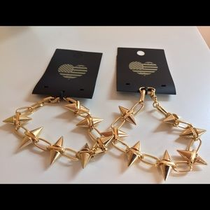 NWT Brandy Melville Stackable spike bracelet lot/2