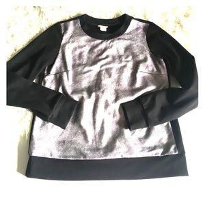 Club Monaco Sweaters - Club Monaco Black Silver Crewneck Sweater