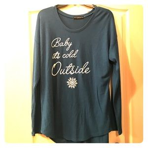 recycled karma Tops - Baby it's Cold Outside Printed Tee