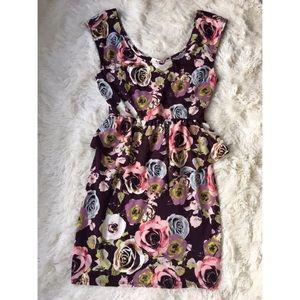Arden B Dresses & Skirts - Arden B floral peplum dress NWT size S