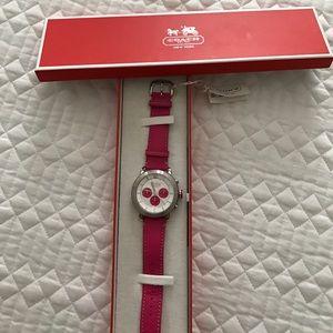 Coach Accessories - NWT pink Coach watch