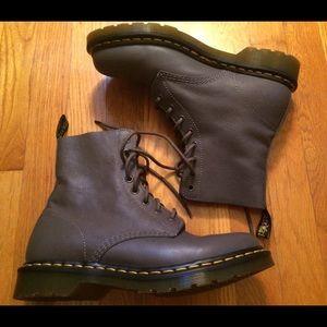 Dr. Martens Shoes - Doc Martens Pascal lead grey combat boots 10