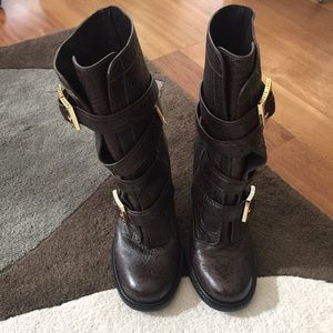 Tory Burch Shoes - Tory Burch Dark Brown Mid Calf Boots