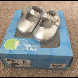 Natural Steps Other - Silver Mary Jane Shoes