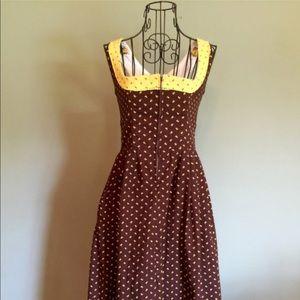 Vintage 70's Zippered Dress
