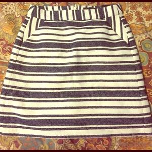 New Banana Republic Striped Skirt