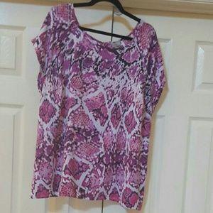 Worthington Tops - Worthington snake patterned blouse