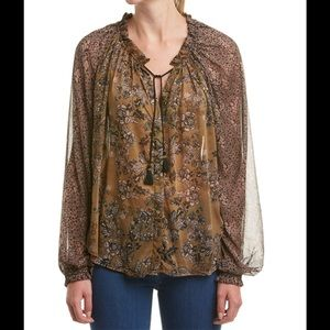 NWT Hendrix Flowy floral printed peasant blouse