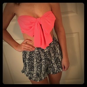 Tops - Bright pink bow bandeau