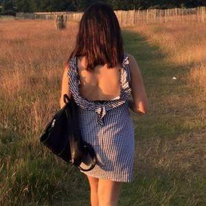 Zara back ruffle dress