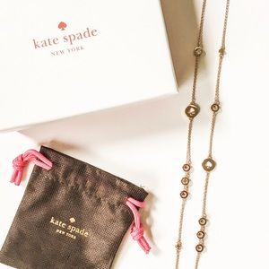 kate spade Jewelry - Kate Spade Rose Gold Spot the Spade Long Necklace