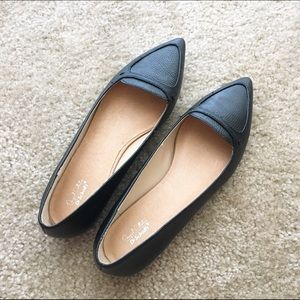 Dr. Scholl's Shoes - Black leather flats