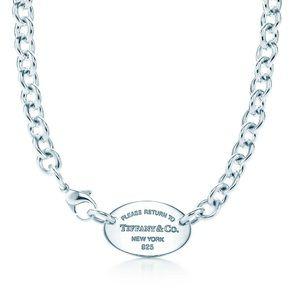 Tiffany & Co. Jewelry - Authentic Return To Tiffany Oval Necklace.