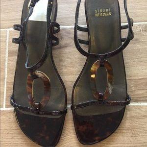 Stuart Weitzman Shoes - Stuart Weitzman tortoise sandals size 9.5