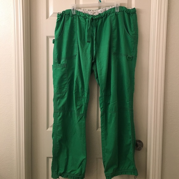 51b53c4e4e6 koi Pants - KOI LINDSEY Green Cargo Scrub Pants # 701 sz 3X