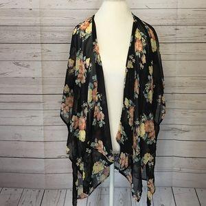 Nordstrom BP Black Floral Kimono