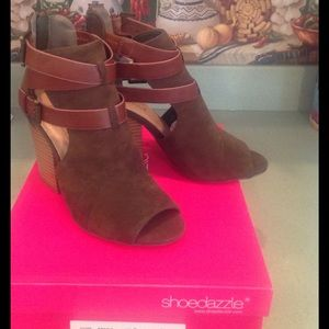 shoedazzle Shoes - NWT PEEP TOE SHOE BOOTS