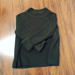 Topshop PETITE Sweaters - Topshop Cropped Mock Neck Sweater