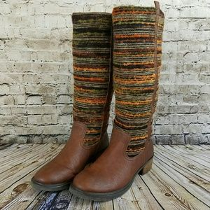 Like-new Sbicca Women's 'El Dorado' Textile Boots