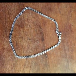 "Sterling silver marked ""Italy 925"" ankle bracelet"