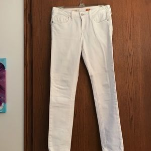 Anthropologie white jeans size 27
