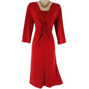 George Dresses & Skirts - 2X 20 XXL💋SEXY LIPSTICK RED TWIST DRESS Plus Size