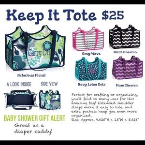 thirty one Handbags - NWOT Thirty One Keep it Tote