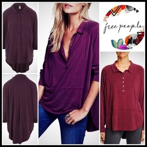 ❗1-HOUR SALE❗Free People Henley Tunic Tee