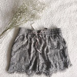 {anthropologie} elevenses periwinkle lace shorts