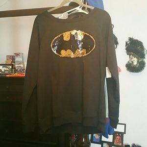 Tops - Batman Sequins Top