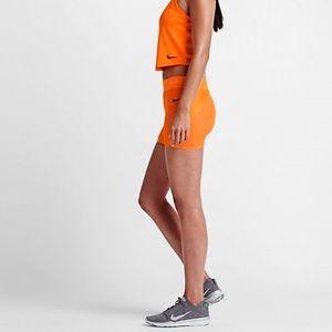 "Nike Pants - Nike Lab Essentials Pro 3""-Orange Training Shorts"