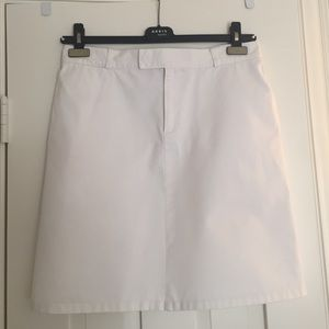 A.P.C. White Cotton Skirt- Smart and Classic!