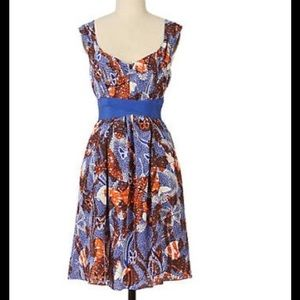 Anthropologie Maeve silk butterfly dress