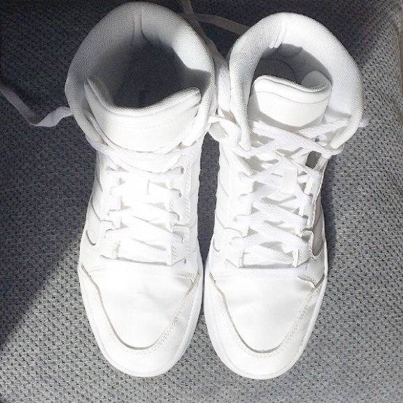 16c0699df4b Adidas Shoes | All White High Top | Poshmark