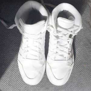 Adidas Shoes - Adidas All white high top