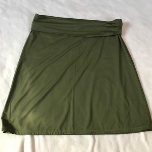 Tommy Bahama Dresses & Skirts - Tommy Bahama Army Green Stretch Fold Over Skirt