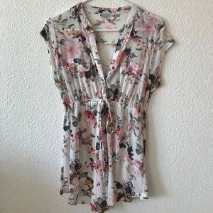 Tops - Maternity Floral Blouse