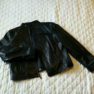 Siena Studio Jackets & Blazers - Siena Studio L 100% Black Leather Jacket
